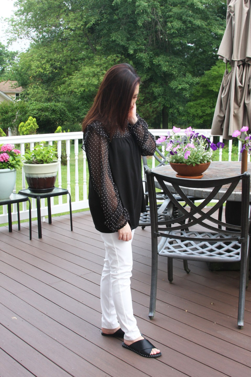 Sheer Ruffle Dot 6