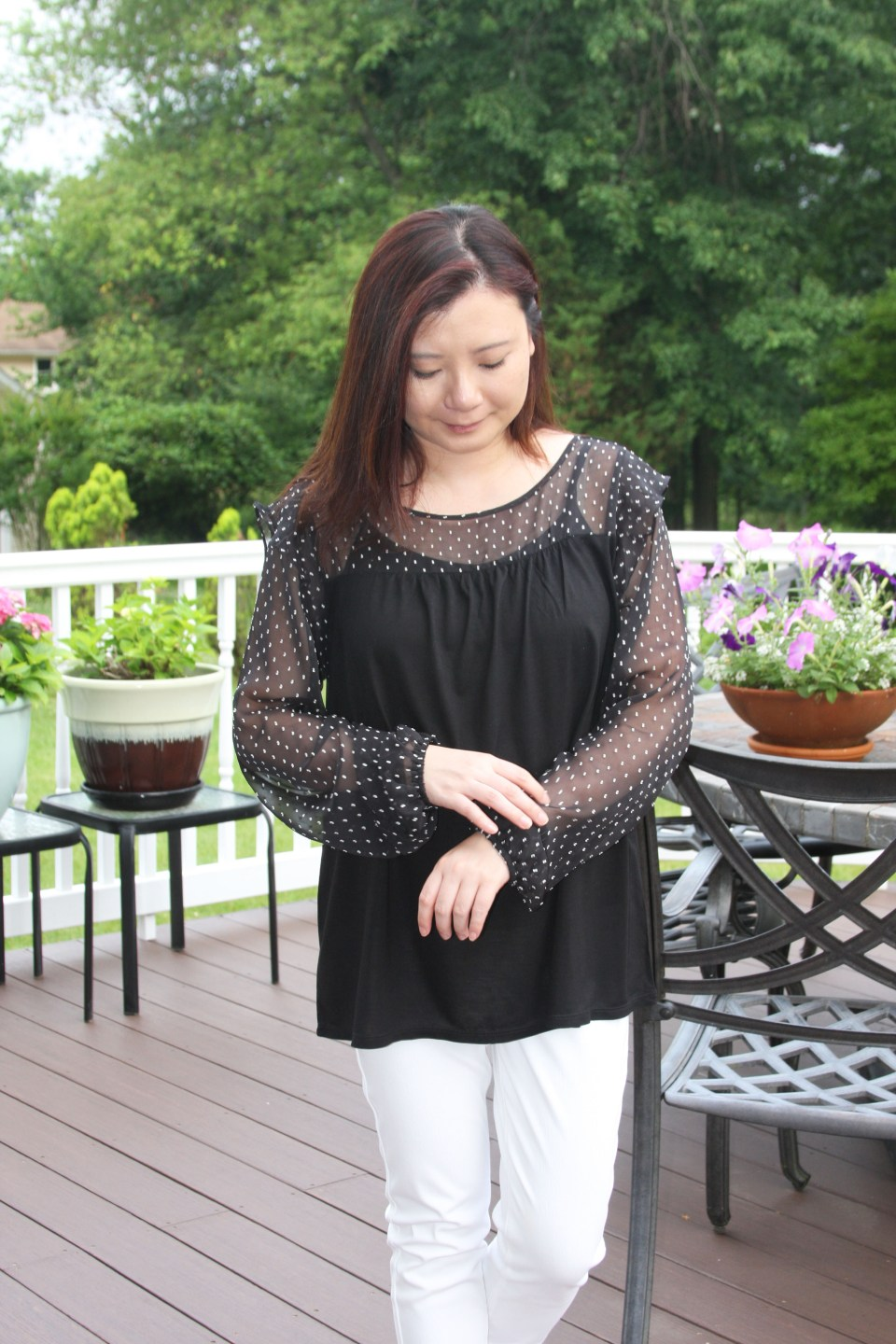 Sheer Ruffle Dot 8