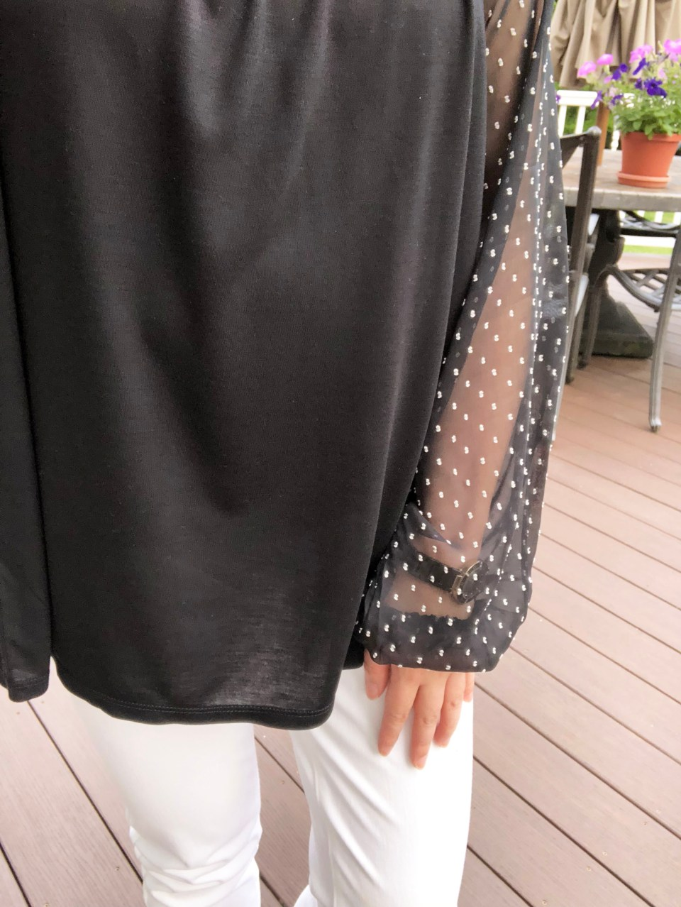 Sheer Ruffle Dot 9