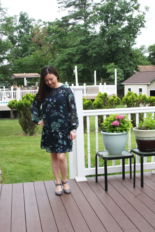 Winter Garden Flounce Dress