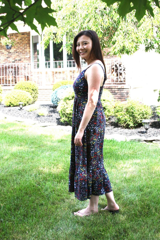 Dark Floral Midi Dress 6