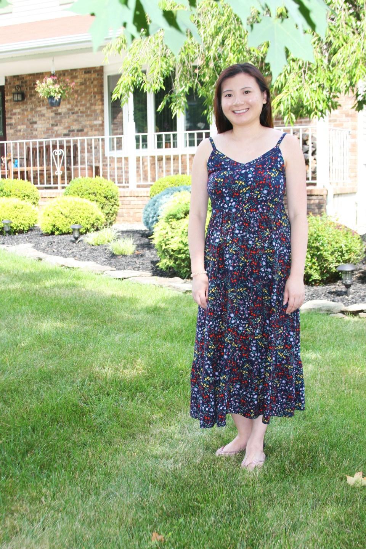 Dark Floral Midi Dress 7