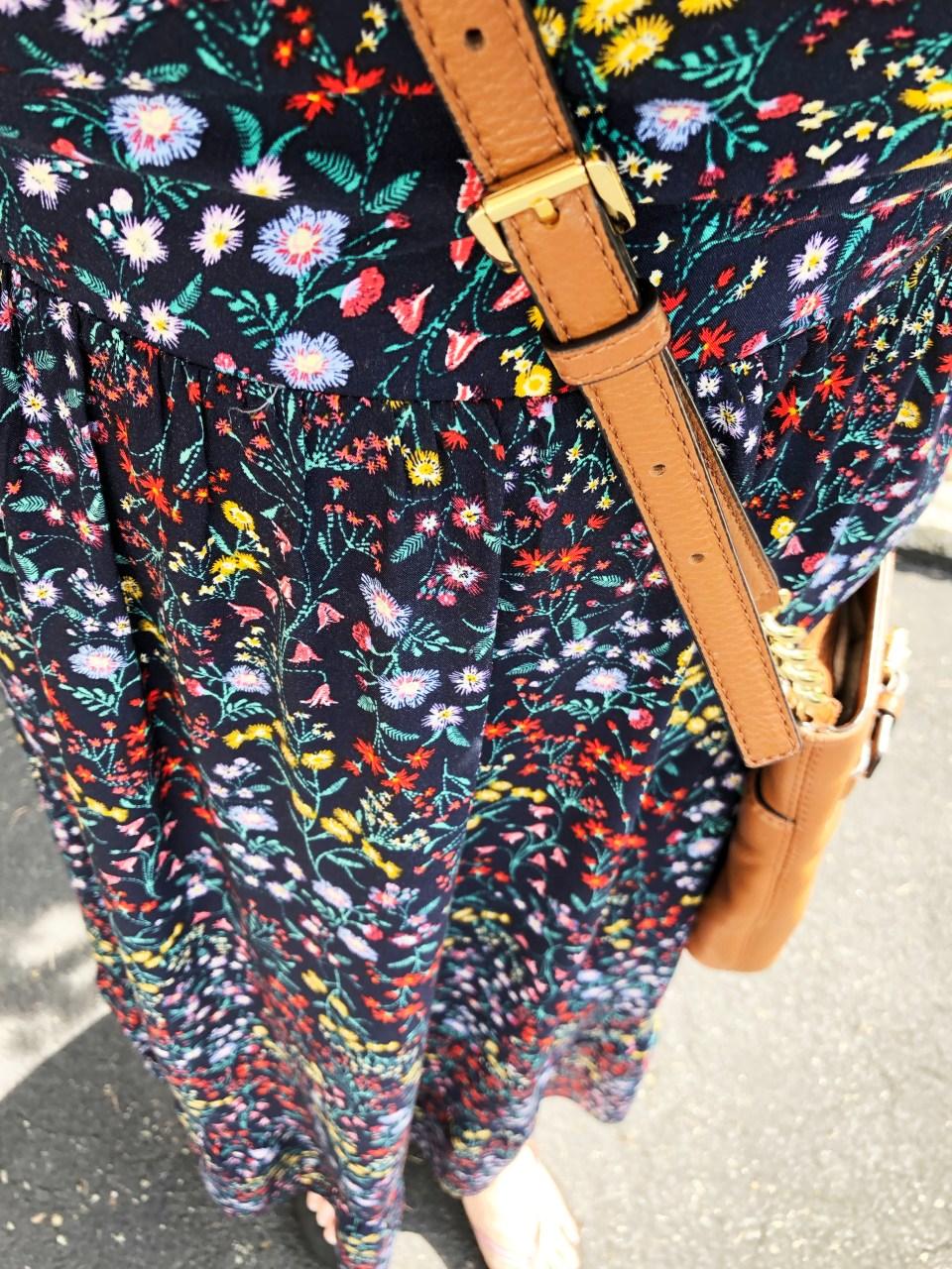 Dark Floral Midi Dress 9