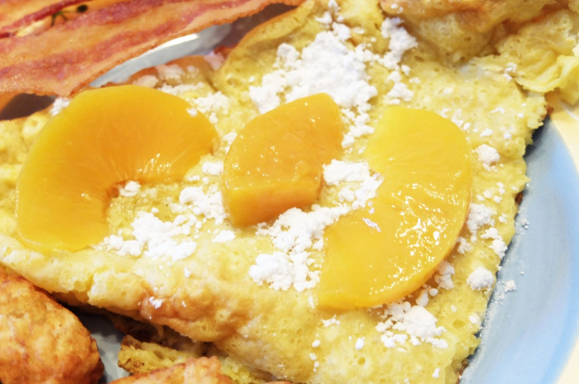 Dutch Baby Pancake + Peaches