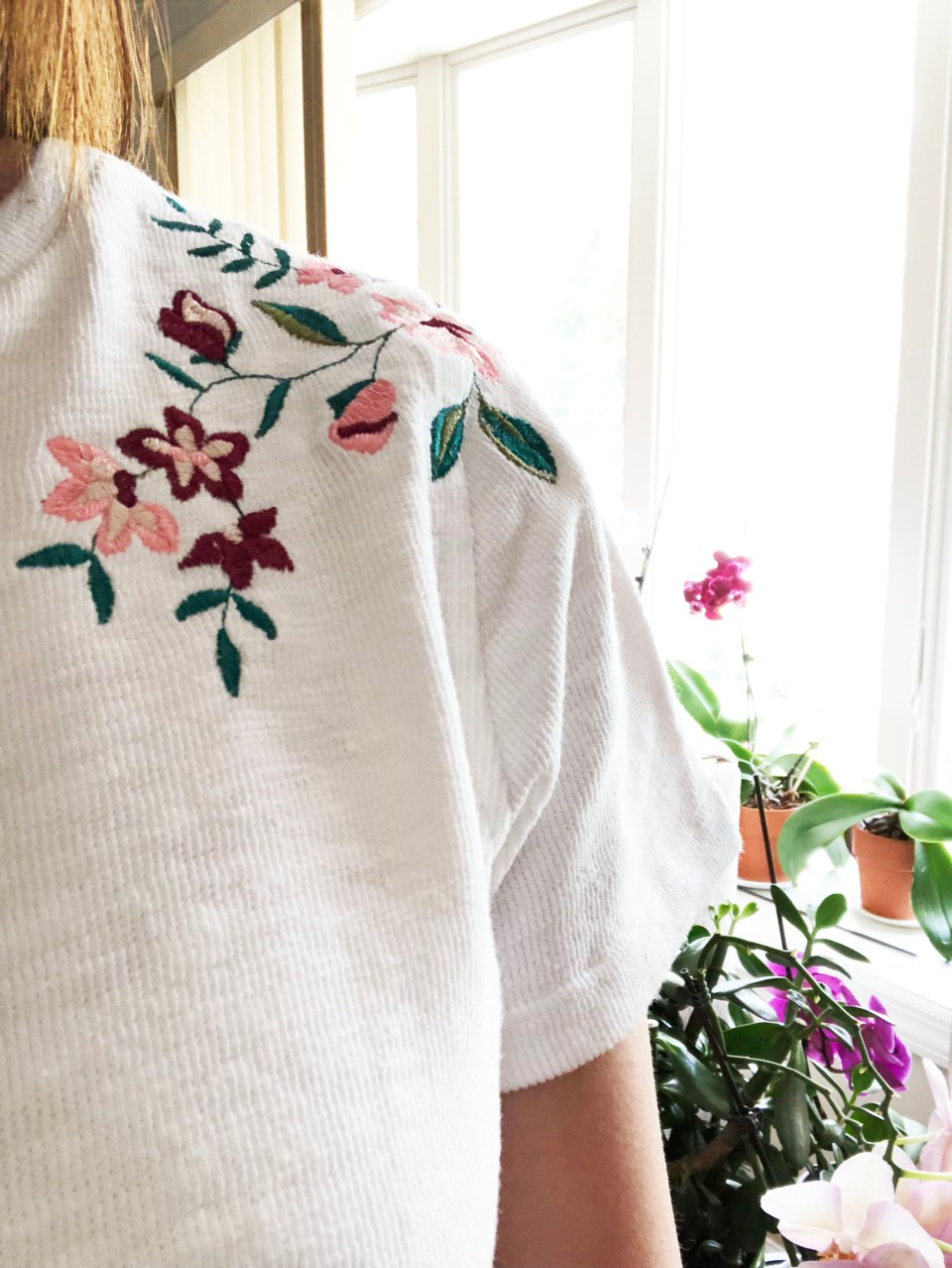 Embroidered Tie Front Tee 9