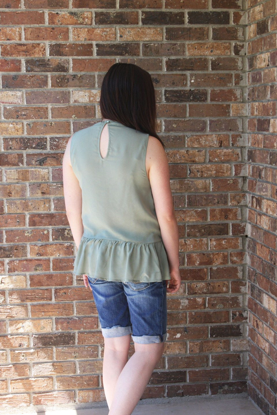 Floral Embroidered Olive Peplum 4