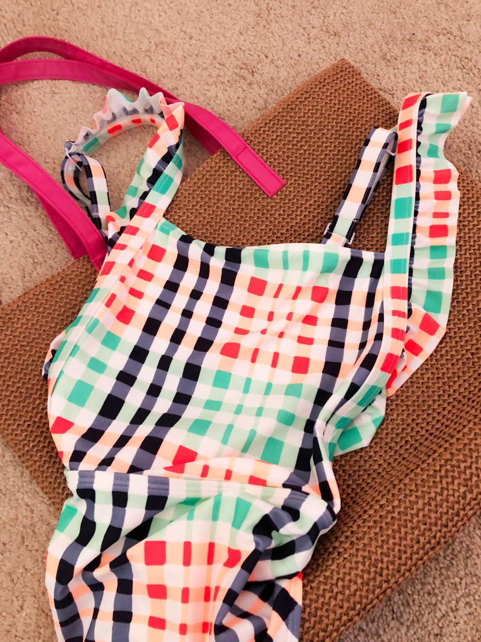 Gingham Ruffle One-Piece