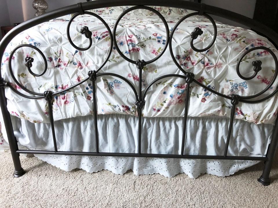 Grafton Bed + Origama Comforter + Eyelet Dust Ruffle