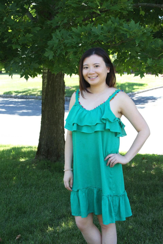 Mini Pompom Trim Dress 1