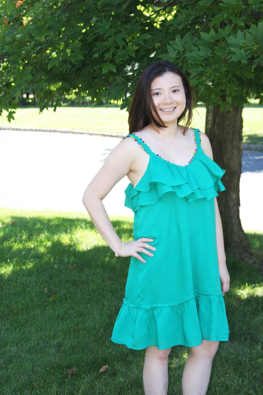 Mini Pompom Trim Dress 4