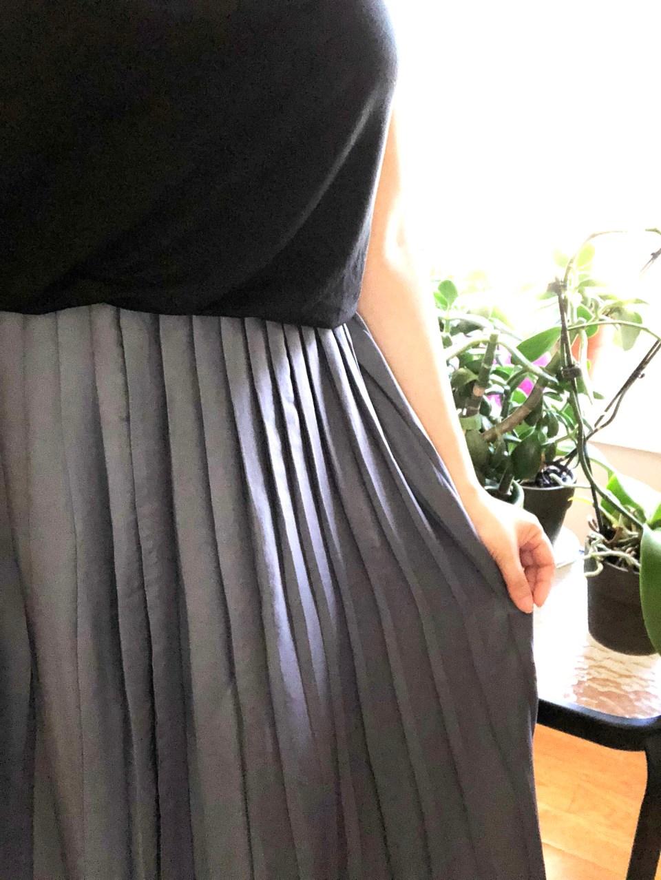 Pleated Duet Dress 14