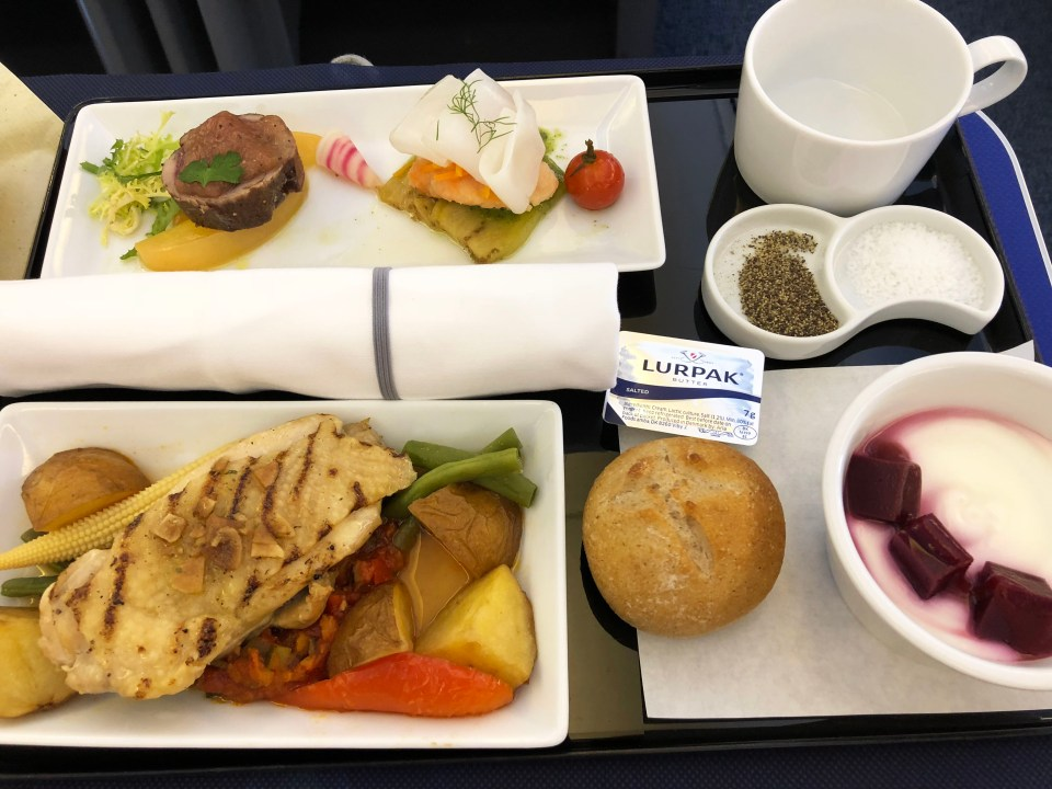 ANA Business Class - lunch