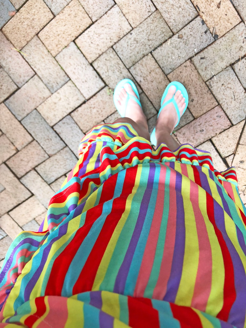Bright Stripe Wrap Dress 10