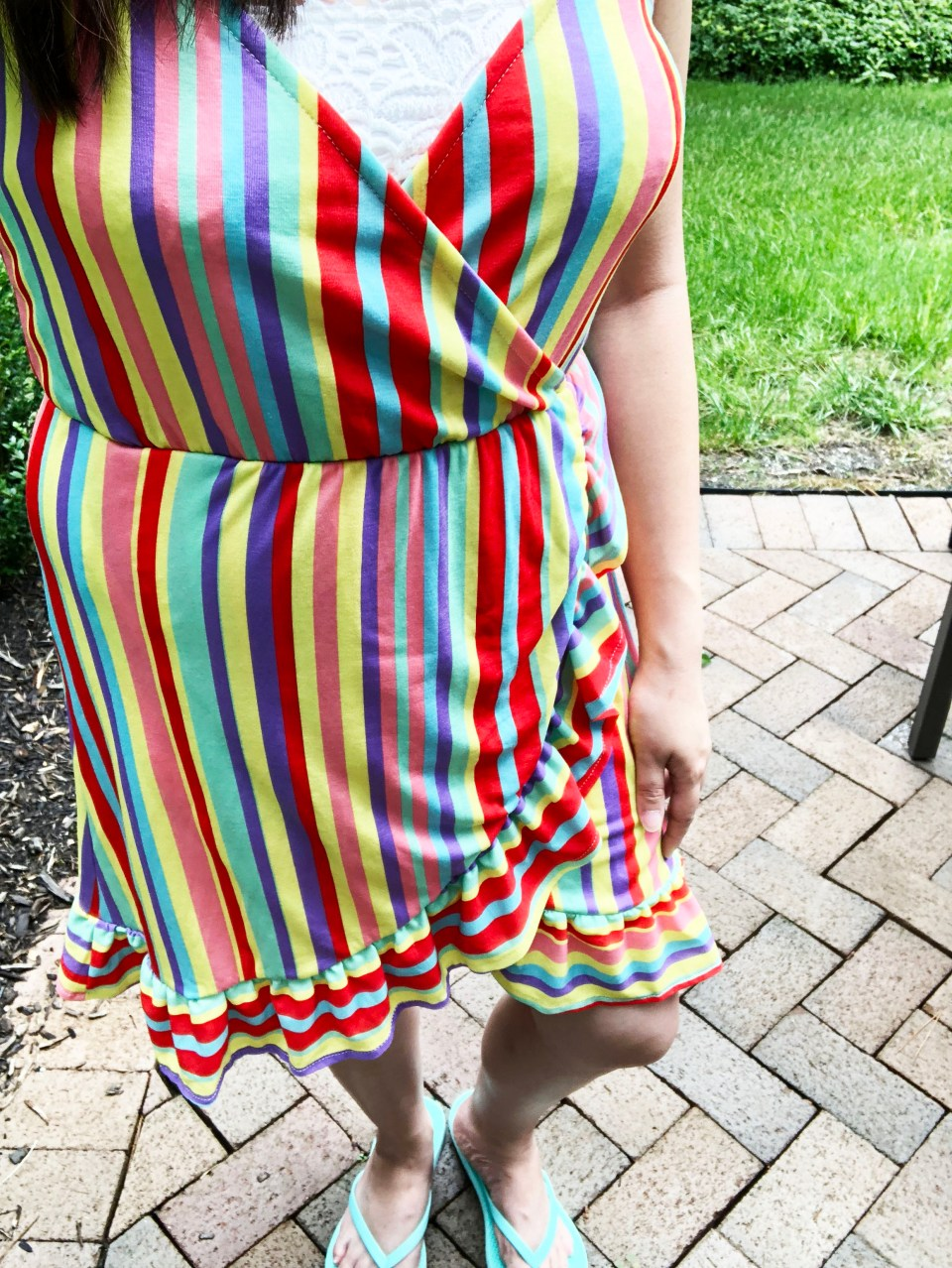 Bright Stripe Wrap Dress 12