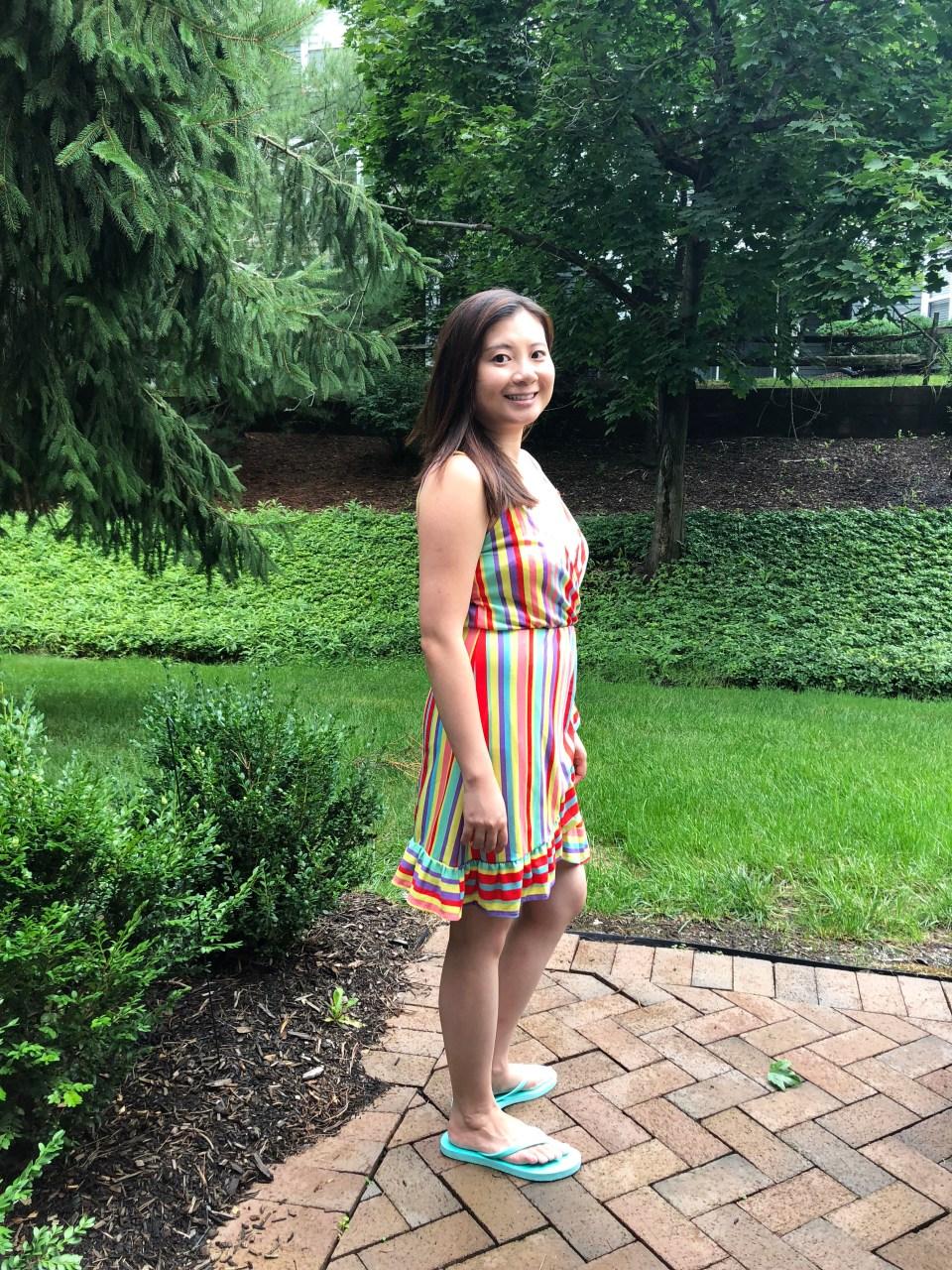 Bright Stripe Wrap Dress 6