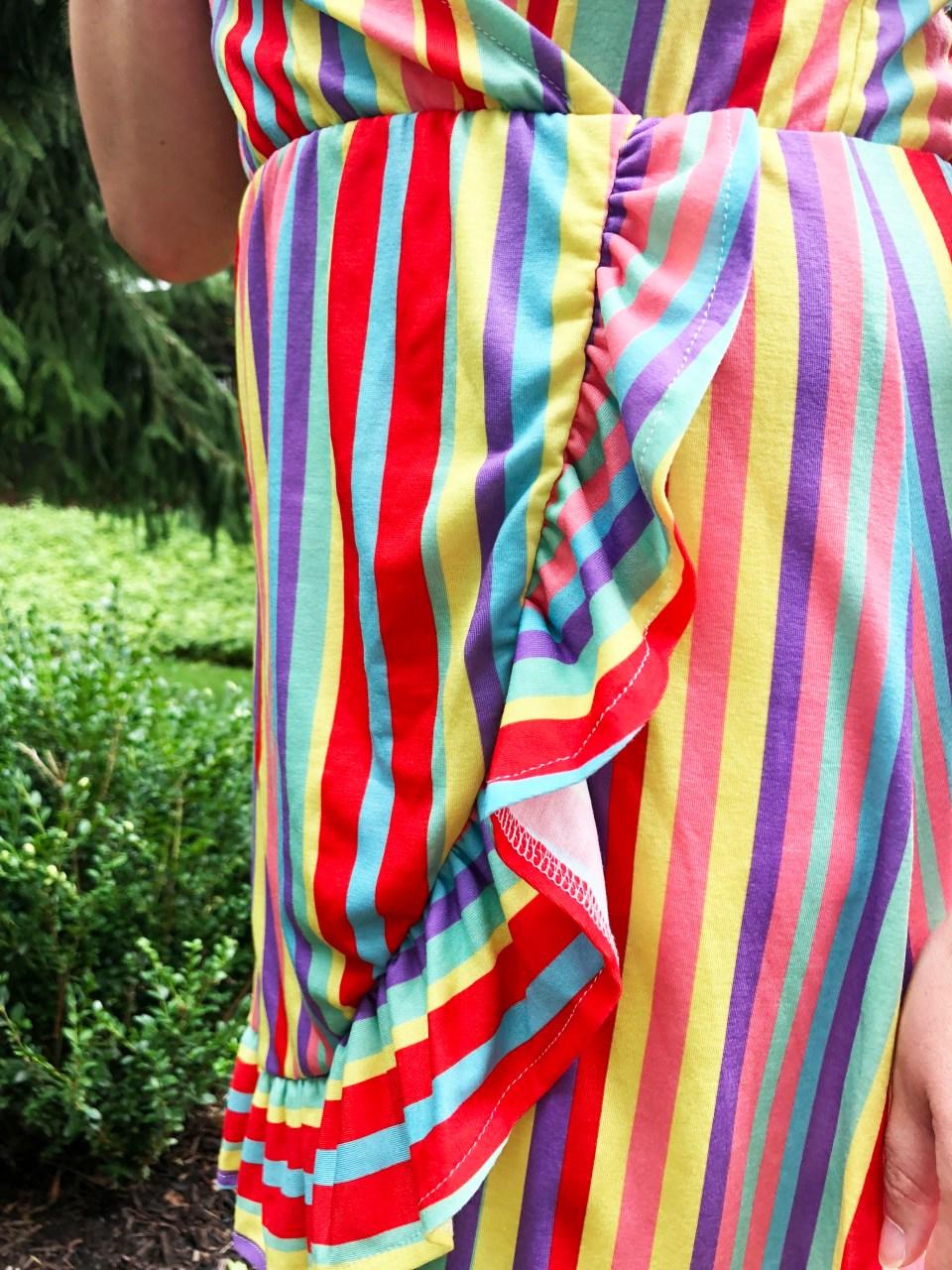 Bright Stripe Wrap Dress 9