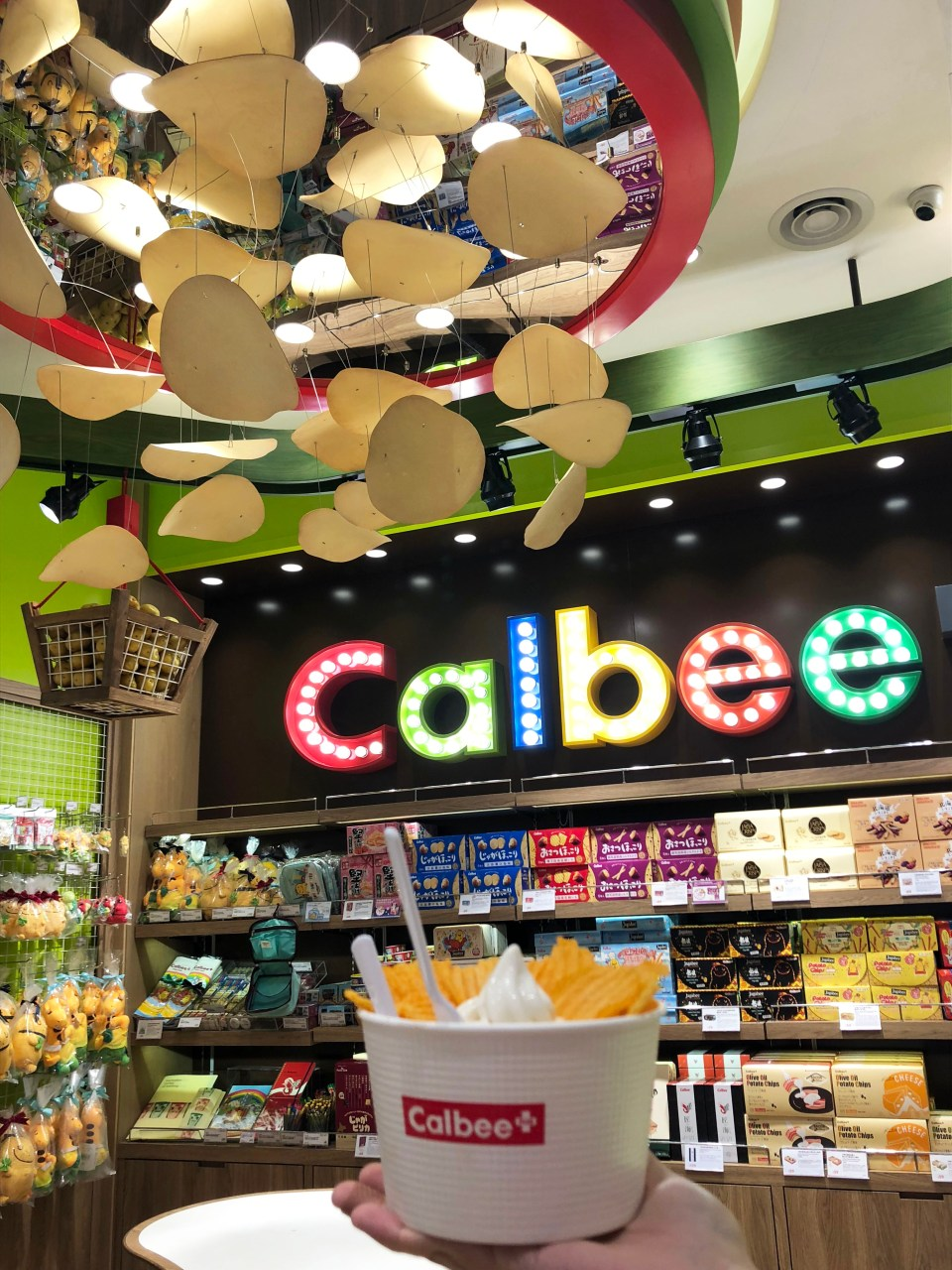 Calbee - Typhoon chips + Ice Cream