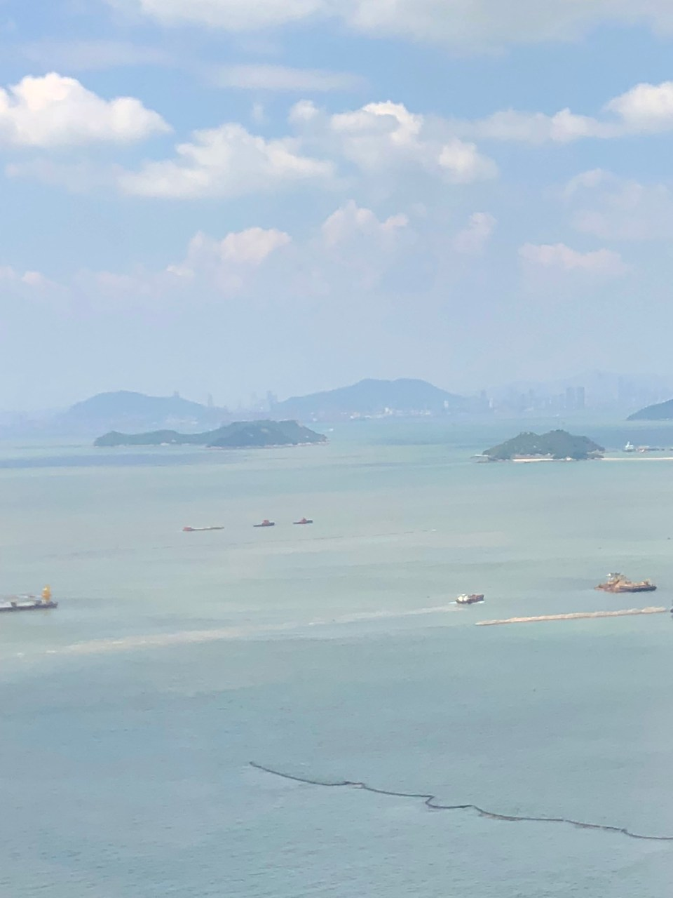 Hong Kong - plane window