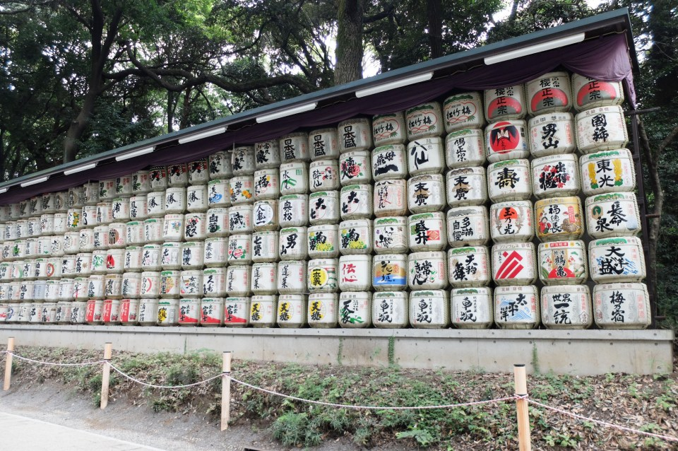 Meiji Shrine - Sake Barrels 1