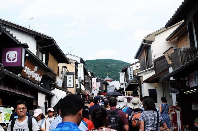 Road leading to Kiyomizu Temple