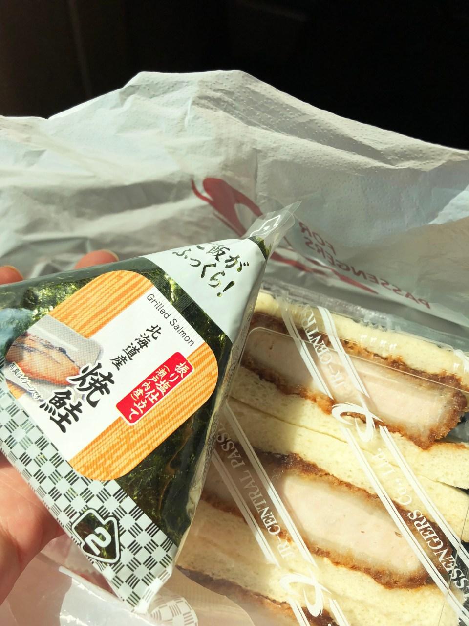 Seaweed & Salmon Sandwich + Katsu Sandwich