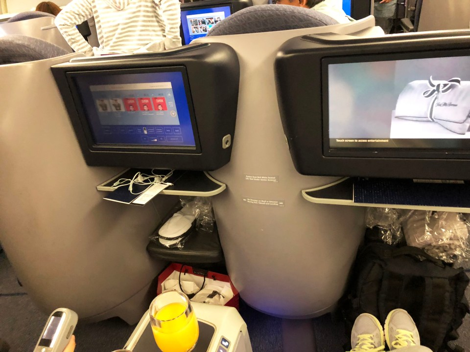 United Airlines - business class