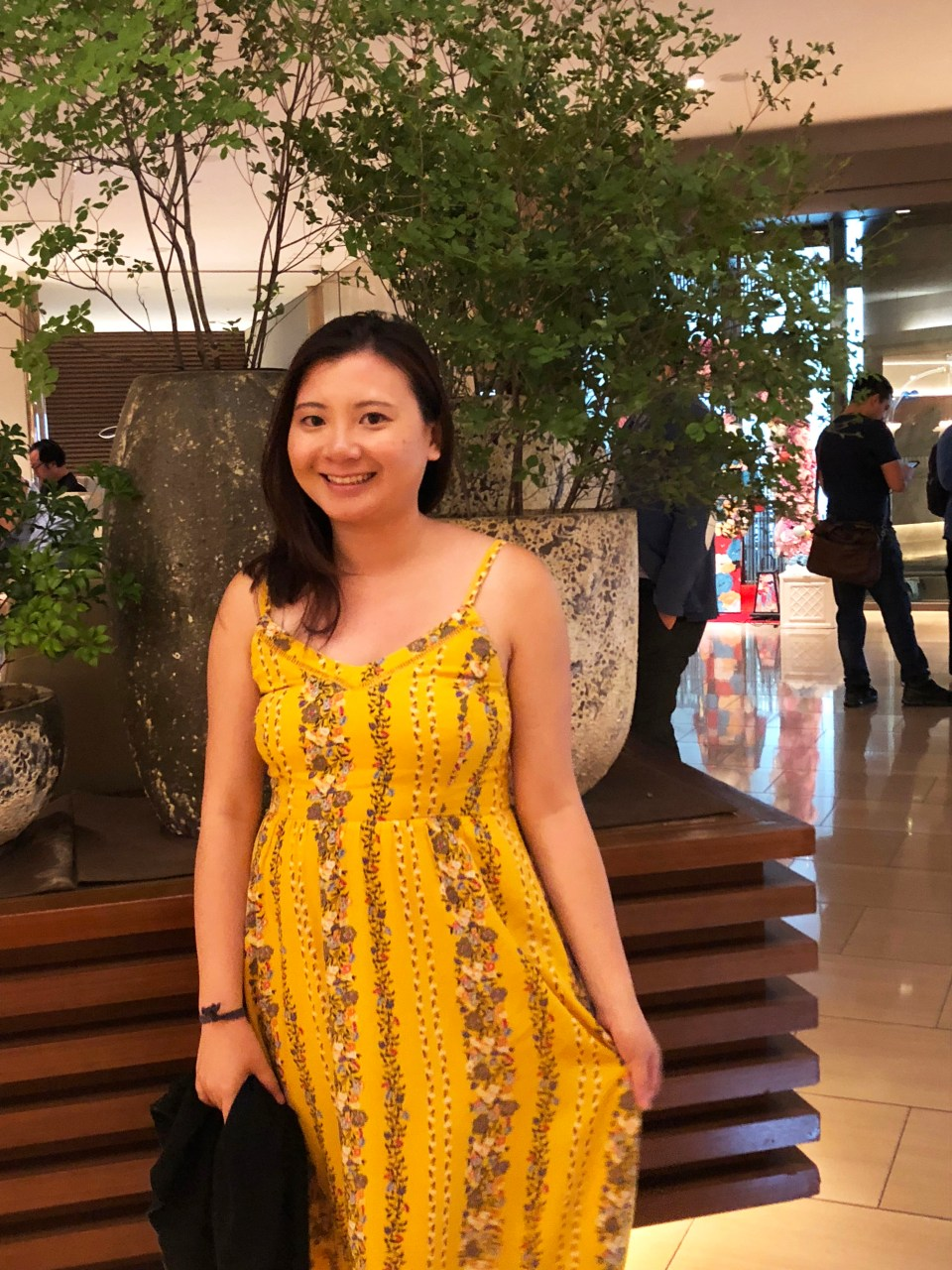 Yellow Floral Midi Dress 8