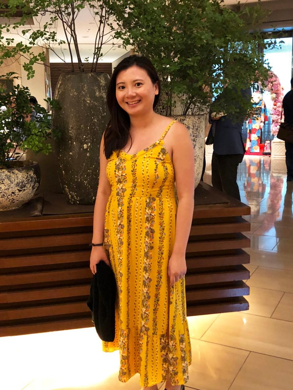 Yellow Floral Midi Dress 9
