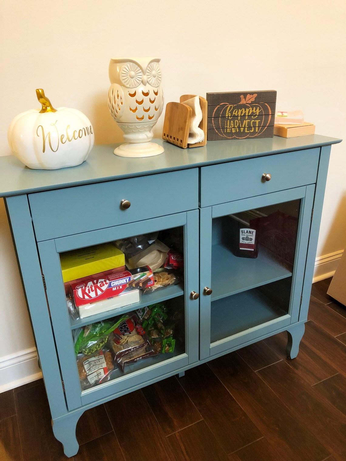 Antique Blue Buffet Table