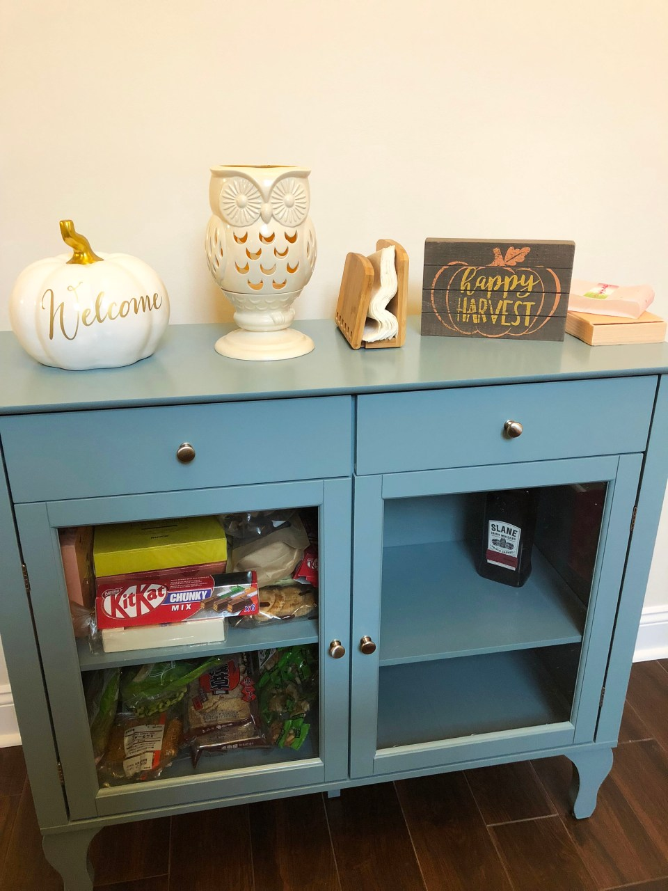 Antique Blue Buffet Table 2
