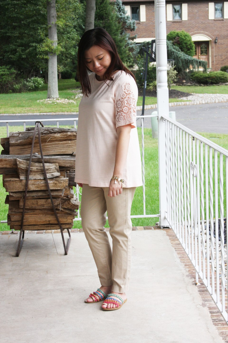 Eyelet Medallion Sleeve Top 1