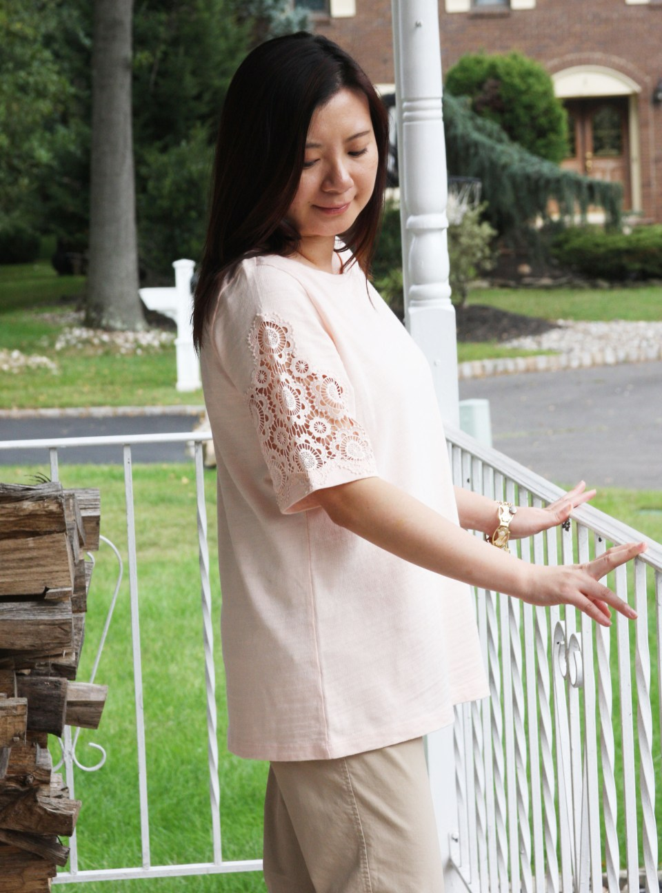 Eyelet Medallion Sleeve Top 6