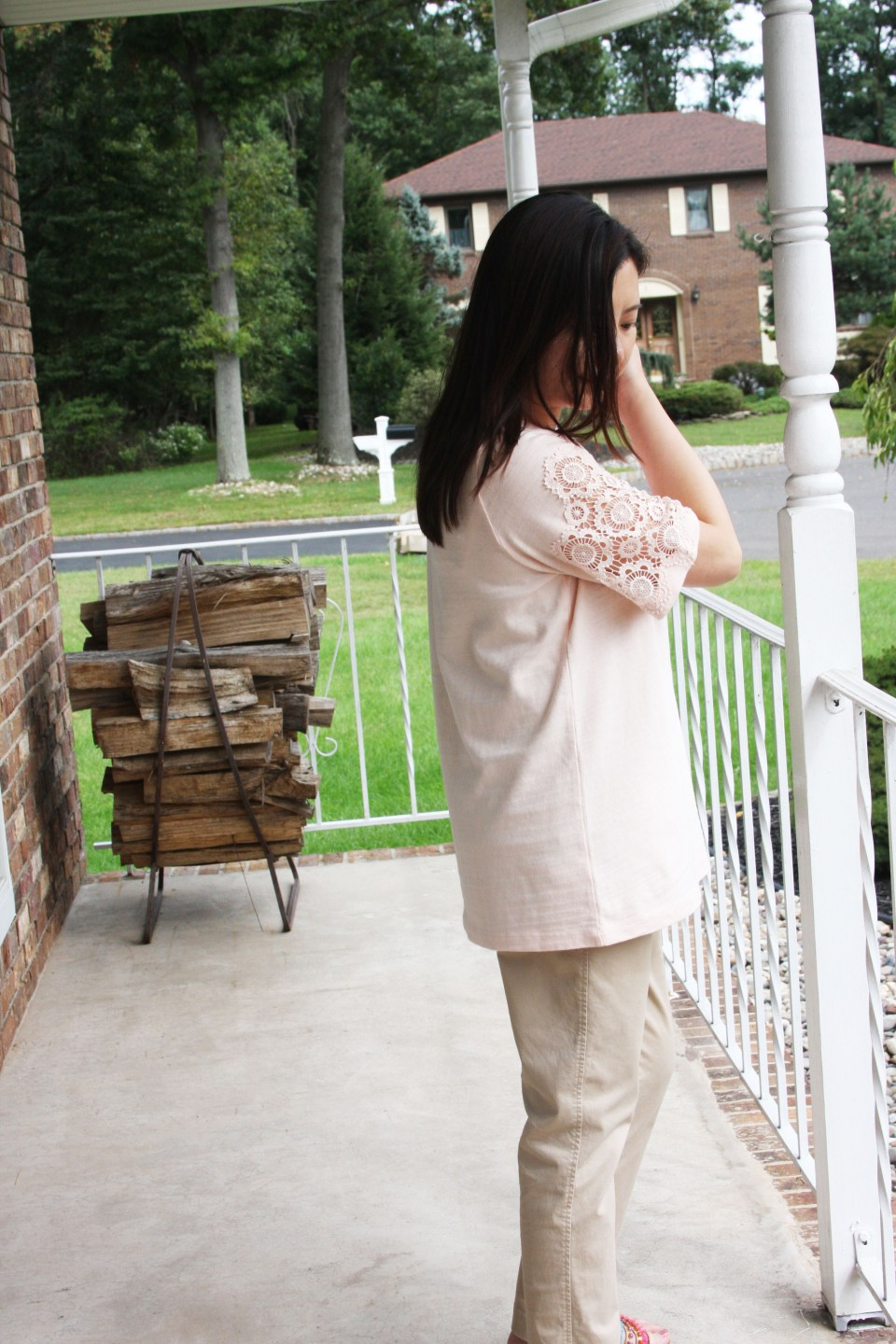 Eyelet Medallion Sleeve Top 9