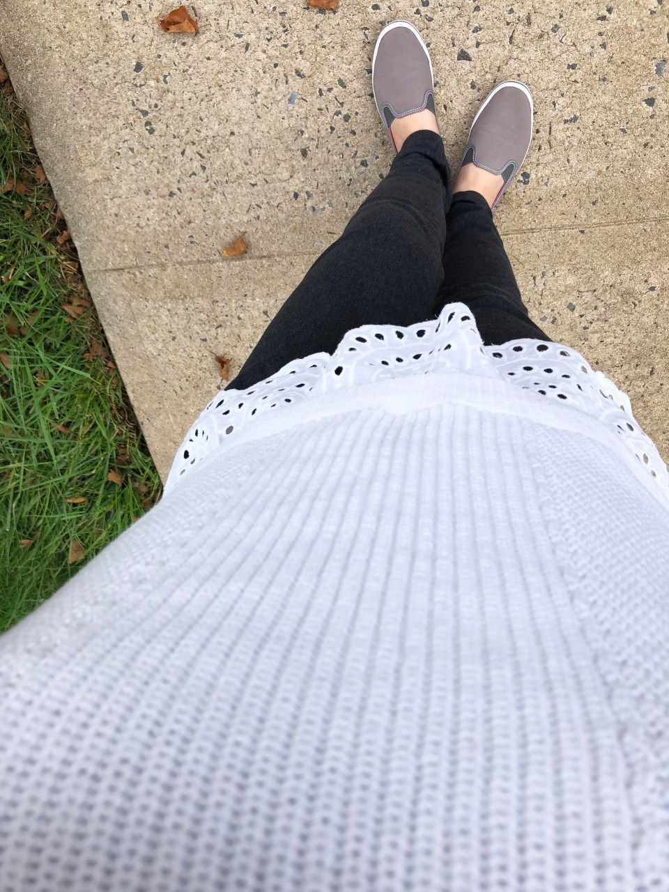 Eyelet Trim Sweater Tank 8