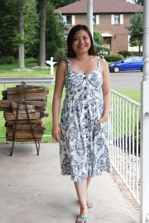 Floral Button Front Dress 9