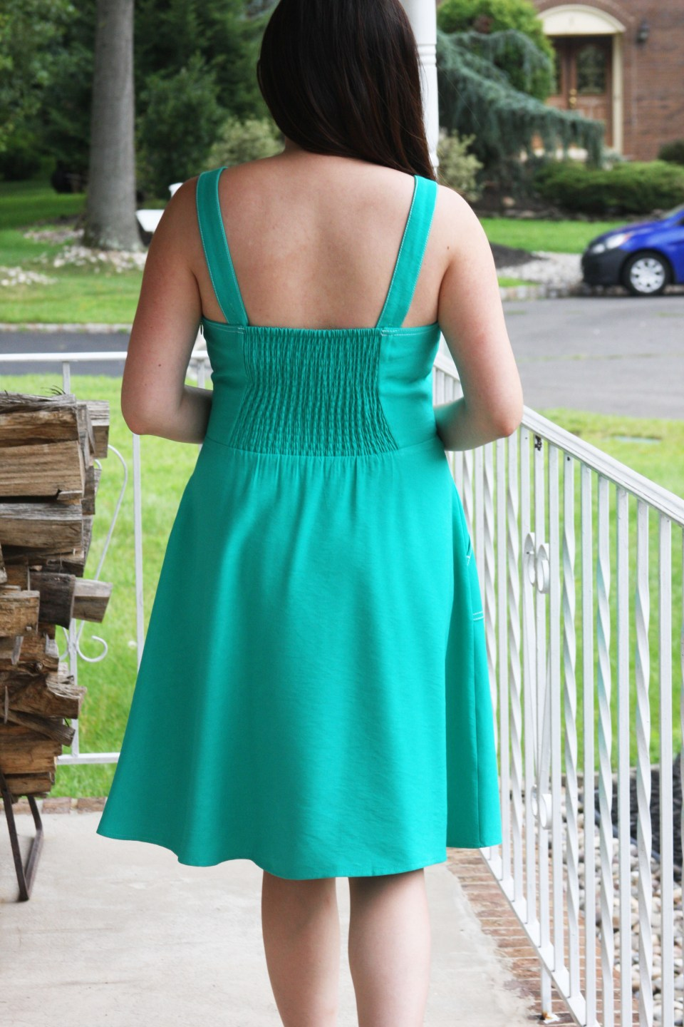 Green Front Tie Dress 5