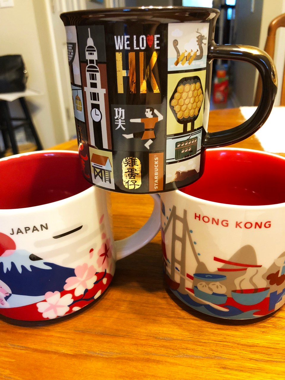 Japan & Hong Kong Starbucks Mugs