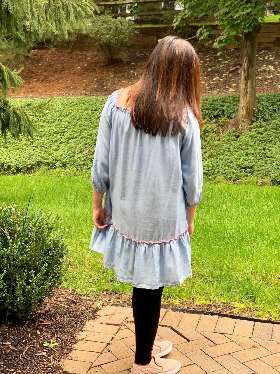 Blue Drop Waist Dress 2