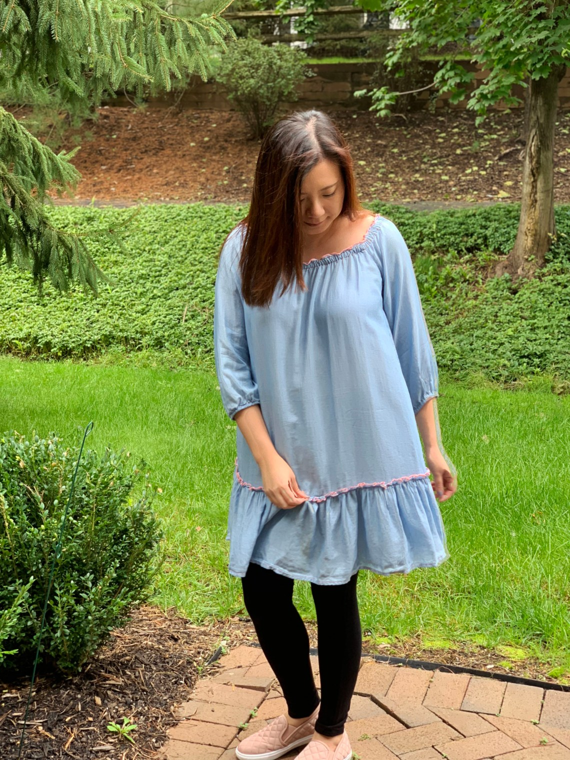 Blue Drop Waist Dress