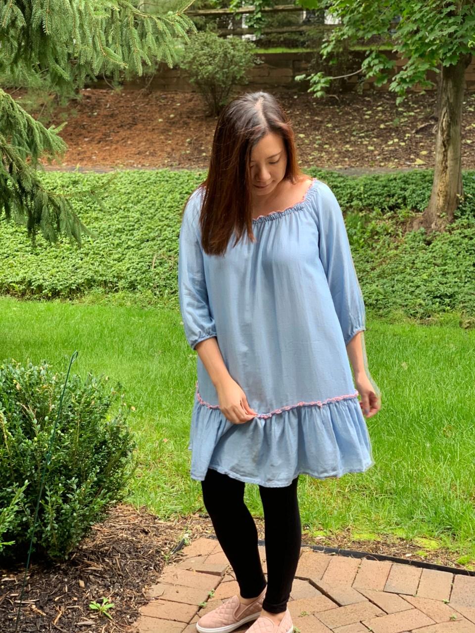 Blue Drop Waist Dress