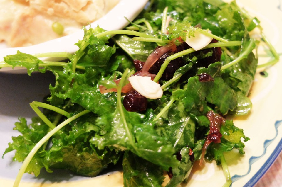 Kale Salad + Cranberry & Almond Vinaigrette 2