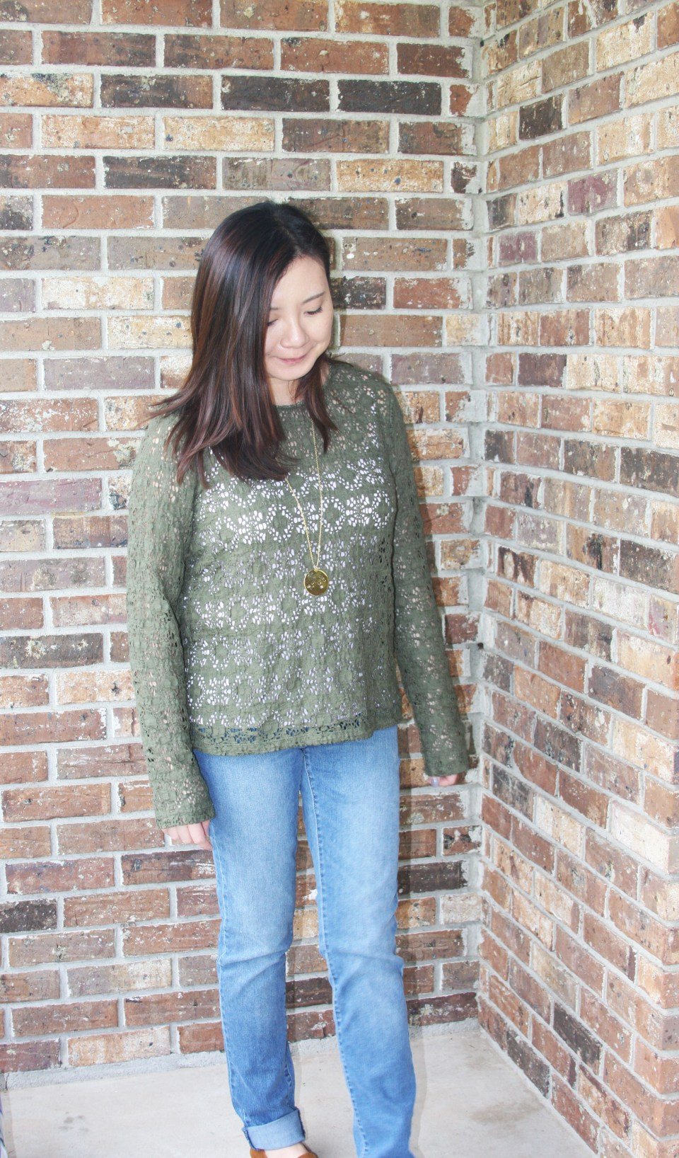 Olive Green Lace Top 4