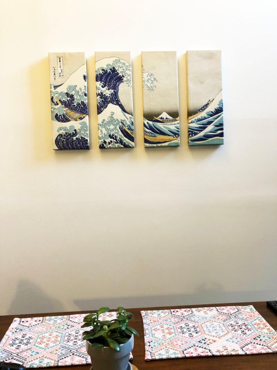 The Great Wave Off Kanagawa - Panel Art 1