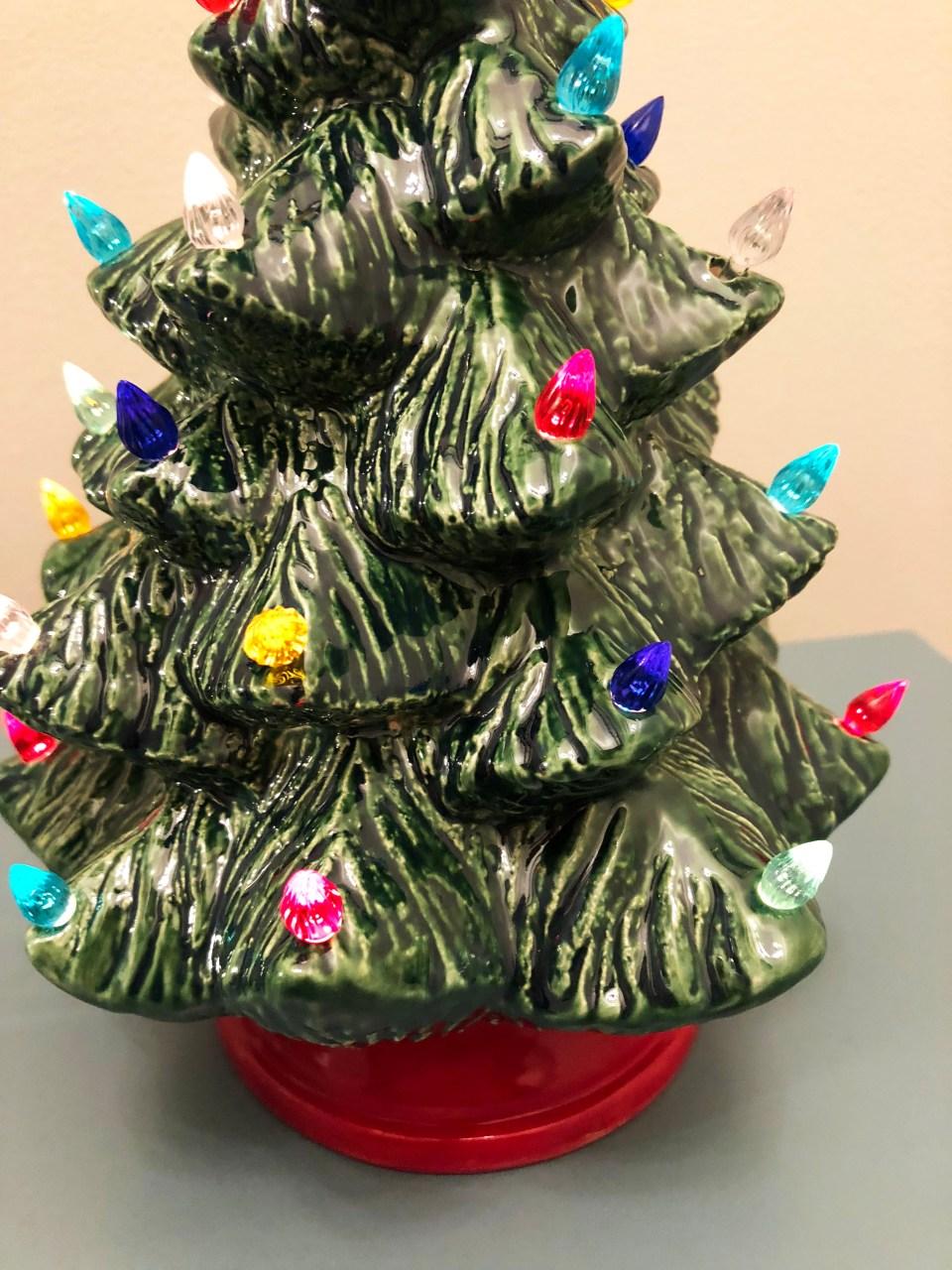 Ceramic Vintage Christmas Tree 2