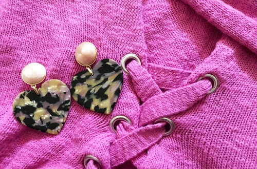 Gigi Resin Drop Earrings