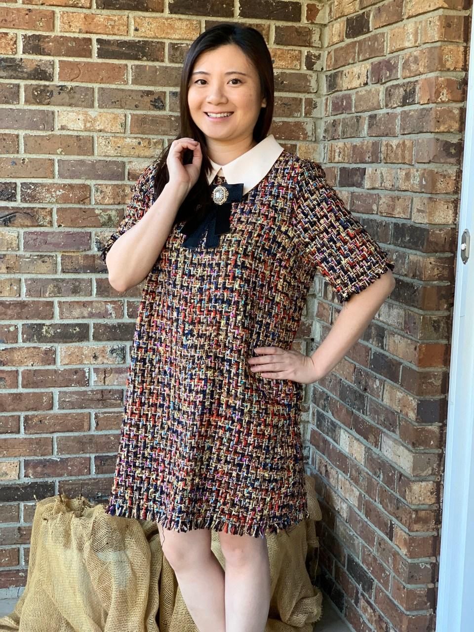 Multicolor Embellished Shift Dress 1