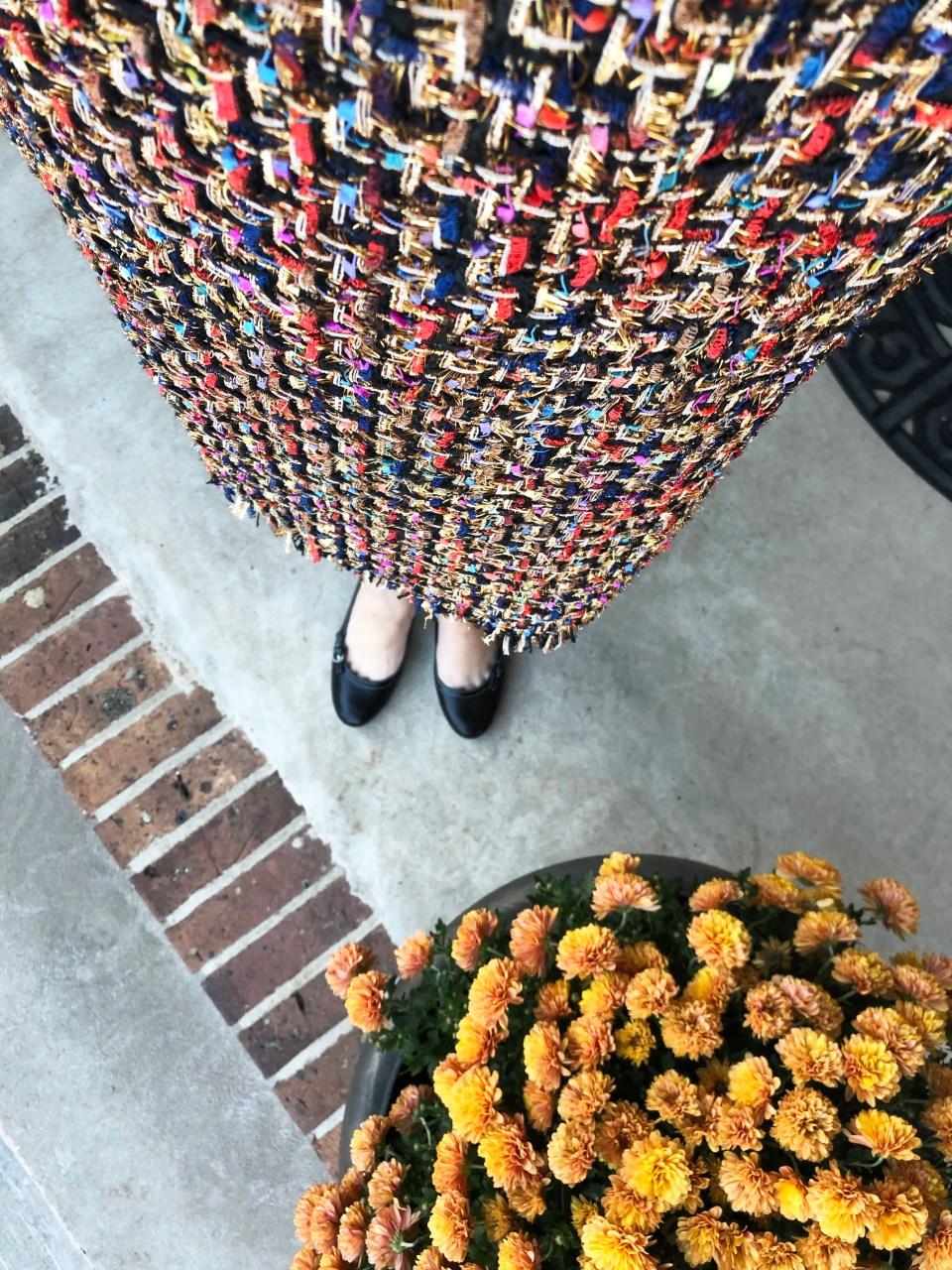 Multicolor Embellished Shift Dress 20