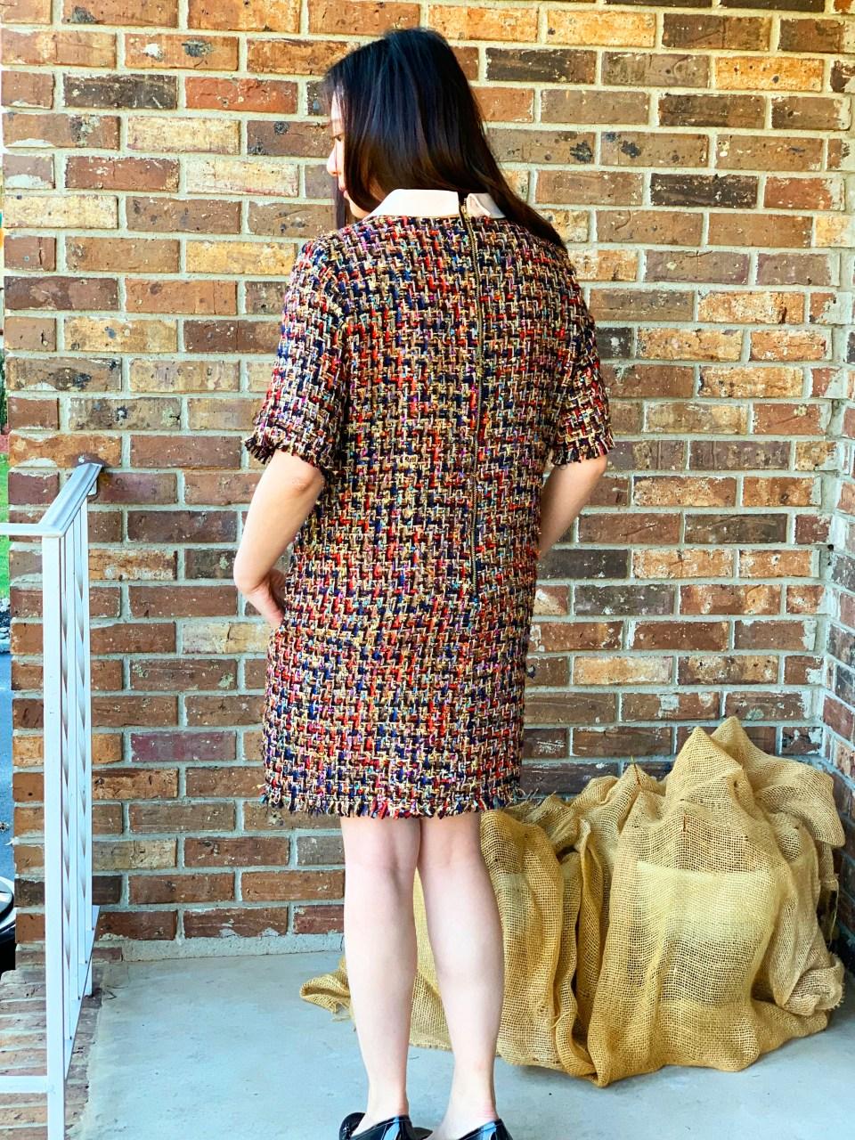 Multicolor Embellished Shift Dress 5