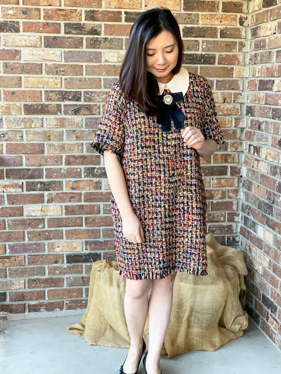 Multicolor Embellished Shift Dress 9