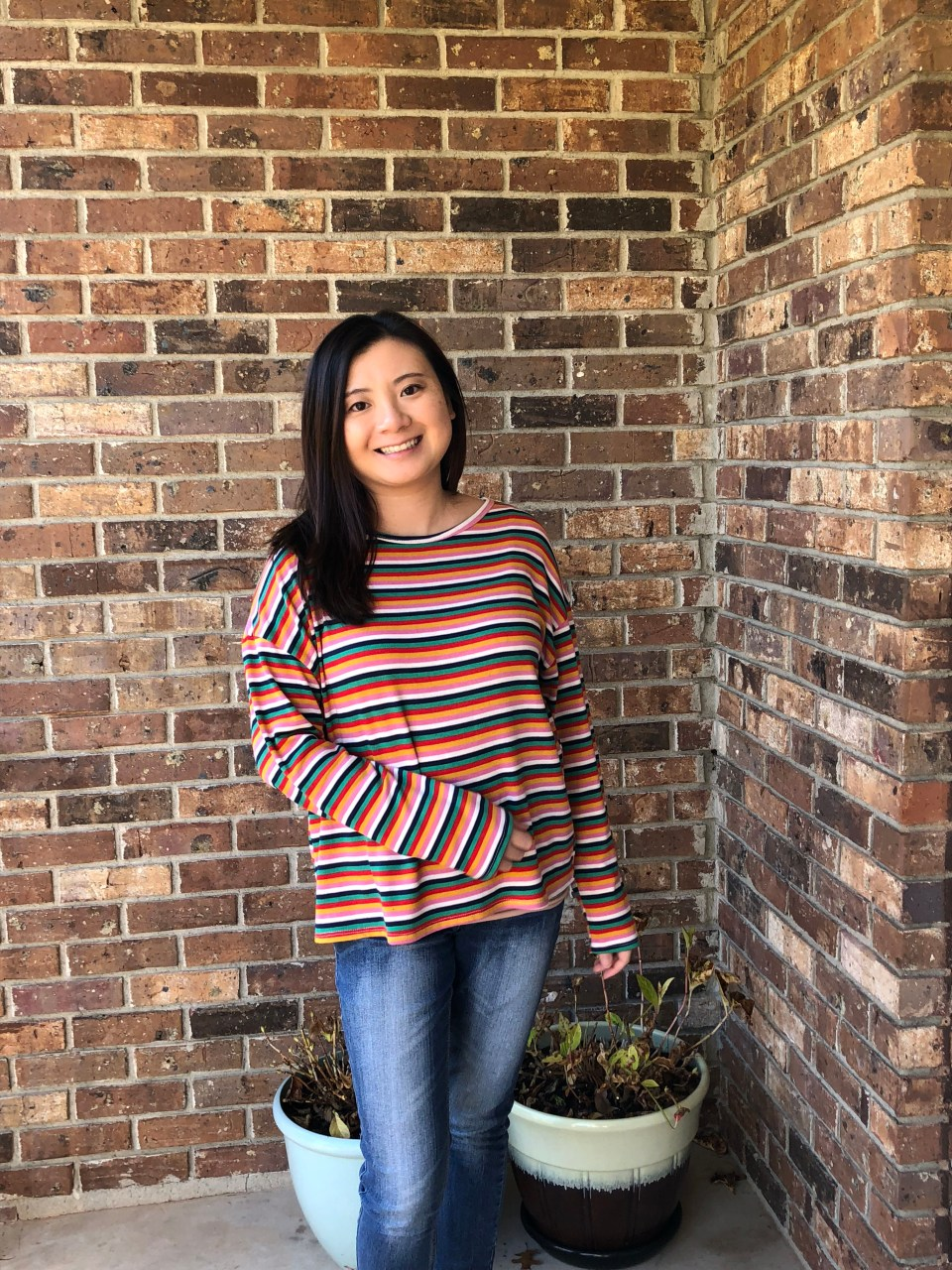 Multicolor Oversized Striped Top 11